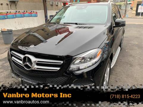 2017 Mercedes-Benz GLE for sale at Vanbro Motors Inc in Staten Island NY