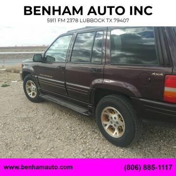 1998 Jeep Grand Cherokee for sale at BENHAM AUTO INC in Lubbock TX