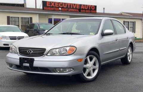 2002 Infiniti I35 for sale at Executive Auto in Winchester VA