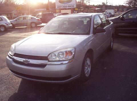 2005 Chevrolet Malibu for sale at LAKESIDE MOTORS LLC in Houghton Lake MI