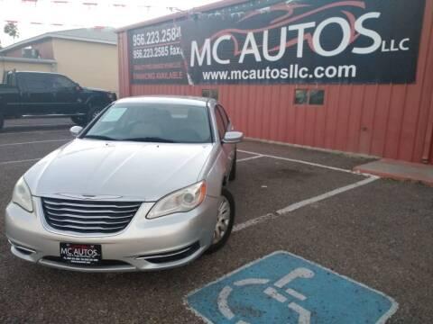 2011 Chrysler 200 for sale at MC Autos LLC in Pharr TX