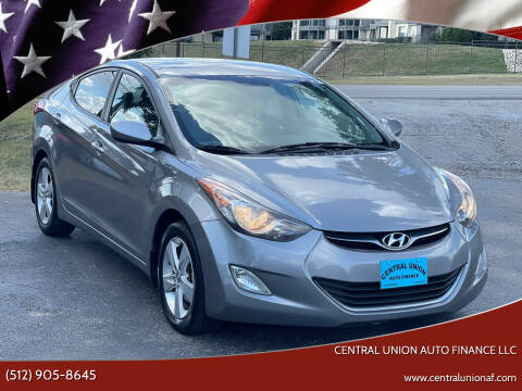 2013 Hyundai Elantra for sale at Central Union Auto Finance LLC in Austin TX