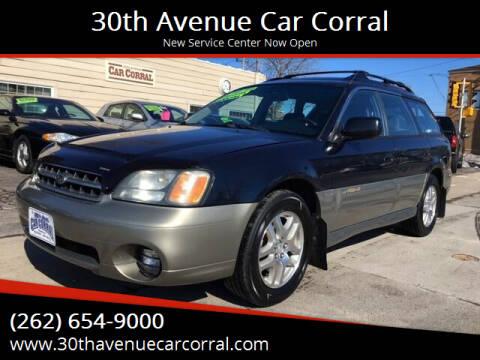 2001 Subaru Outback for sale at 30th Avenue Car Corral in Kenosha WI