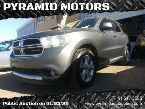 2011 Dodge Durango for sale at PYRAMID MOTORS - Pueblo Lot in Pueblo CO