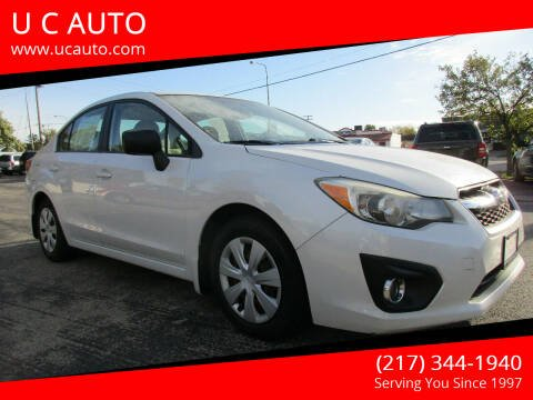 2012 Subaru Impreza for sale at U C AUTO in Urbana IL