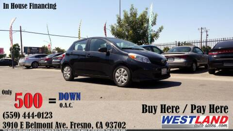 2014 Toyota Yaris for sale at Westland Auto Sales in Fresno CA