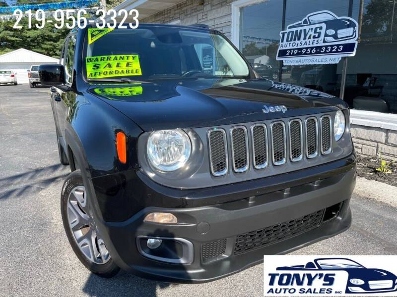 2015 Jeep Renegade for sale at Tonys Auto Sales Inc in Wheatfield IN
