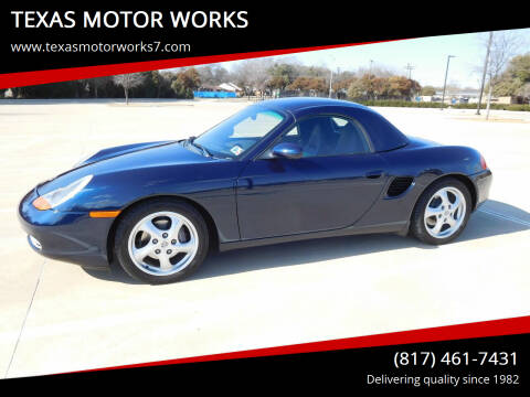 1999 Porsche Boxster for sale at TEXAS MOTOR WORKS in Arlington TX