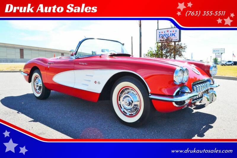 1959 Chevrolet Corvette for sale at Druk Auto Sales in Ramsey MN
