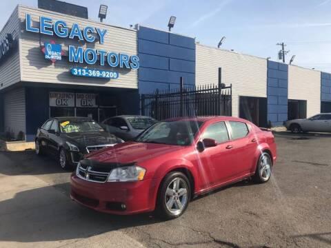 2011 Dodge Avenger for sale at Legacy Motors in Detroit MI