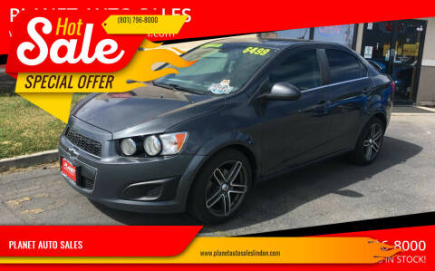 2013 Chevrolet Sonic for sale at PLANET AUTO SALES in Lindon UT