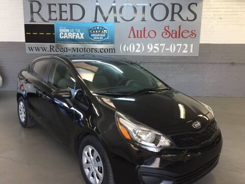 2014 Kia Rio for sale at REED MOTORS LLC in Phoenix AZ
