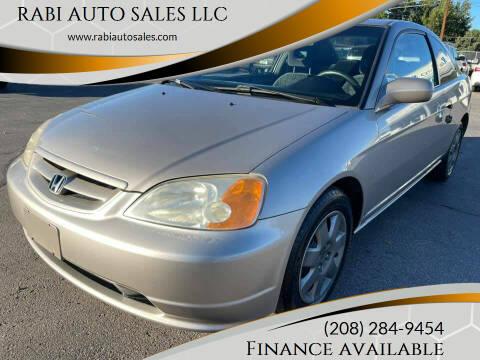 2002 Honda Civic for sale at RABI AUTO SALES LLC in Garden City ID