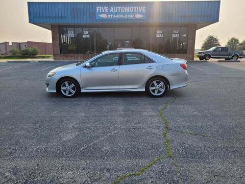 2012 Toyota Camry for sale at Five Automotive in Louisburg NC
