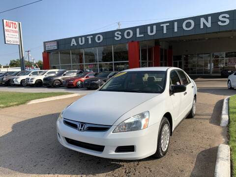 2007 Honda Accord for sale at Auto Solutions in Warr Acres OK