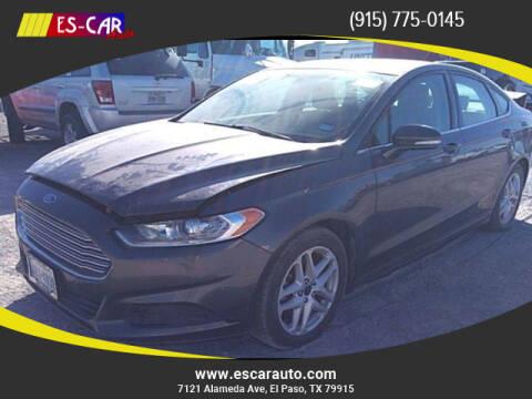 2015 Ford Fusion for sale at Escar Auto in El Paso TX