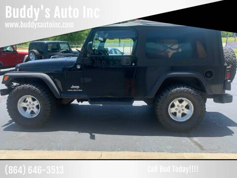 2005 Jeep Wrangler for sale at Buddy's Auto Inc in Pendleton SC