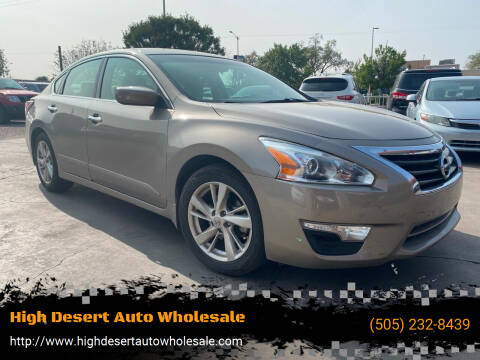 2014 Nissan Altima for sale at High Desert Auto Wholesale in Albuquerque NM