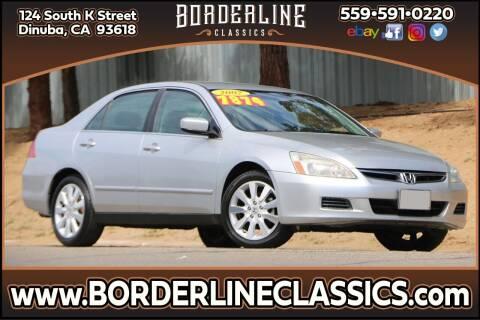 2007 Honda Accord for sale at Borderline Classics in Dinuba CA