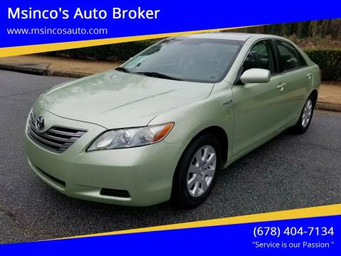 2007 Toyota Camry Hybrid for sale at Msinco's Auto Broker in Snellville GA