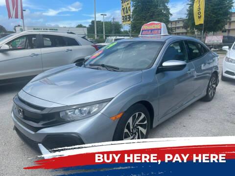 2019 Honda Civic for sale at D & P OF MIAMI CORP in Miami FL
