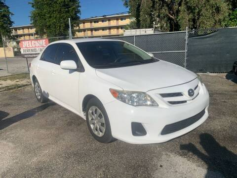 2011 Toyota Corolla for sale at D & P OF MIAMI CORP in Miami FL