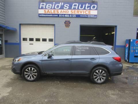 2015 Subaru Outback for sale at Reid's Auto Sales & Service in Emporium PA