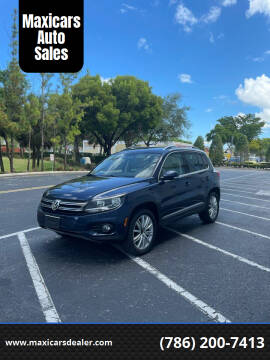 2012 Volkswagen Tiguan for sale at Maxicars Auto Sales in West Park FL