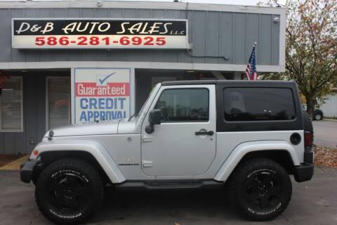 2011 Jeep Wrangler for sale at D & B Auto Sales LLC in Washington MI