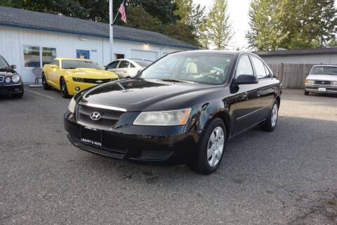2006 Hyundai Sonata for sale at Leavitt Auto Sales and Used Car City in Everett WA