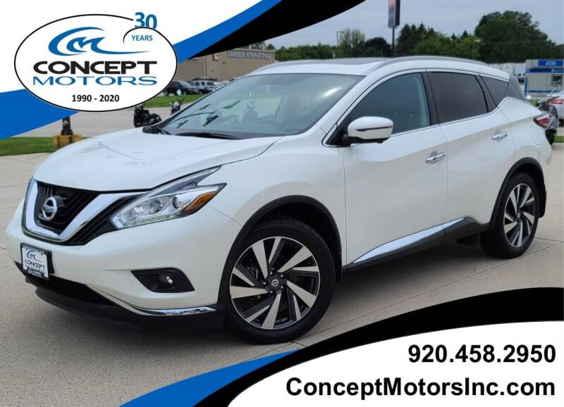 2018 Nissan Murano for sale at CONCEPT MOTORS INC in Sheboygan WI