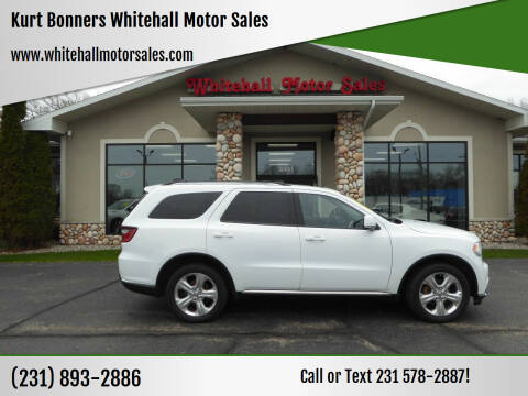 2015 Dodge Durango for sale at Kurt Bonners Whitehall Motor Sales in Whitehall MI