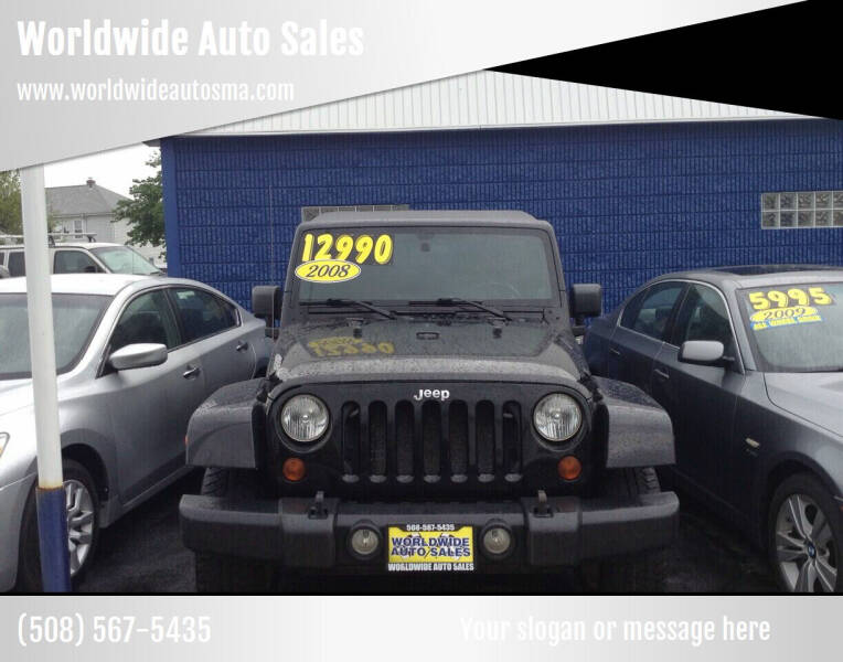2008 Jeep Wrangler Unlimited for sale at Worldwide Auto Sales in Fall River MA