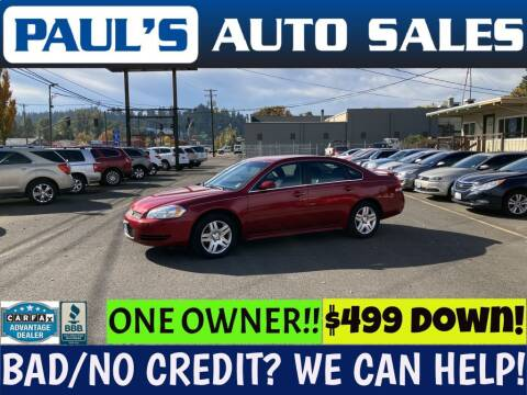 2013 Chevrolet Impala for sale at Paul's Auto Sales in Eugene OR