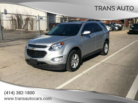 2016 Chevrolet Equinox for sale at Trans Auto in Milwaukee WI