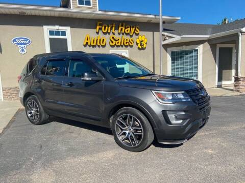 2017 Ford Explorer for sale at Fort Hays Auto Sales in Hays KS