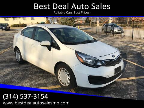 2014 Kia Rio for sale at Best Deal Auto Sales in Saint Charles MO