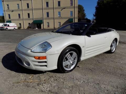 2003 Mitsubishi Eclipse Spyder for sale at S.S. Motors LLC in Dallas GA