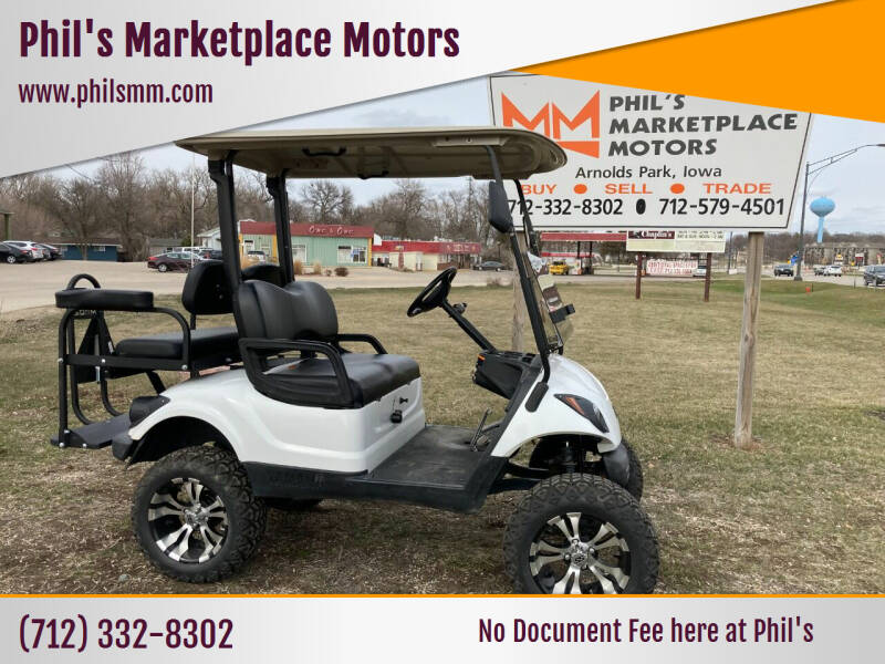 """2015 Yamaha YDRAX5 GOLF CART 4""""LIFT 4 PASS for sale at Phil's Marketplace Motors in Arnolds Park IA"""