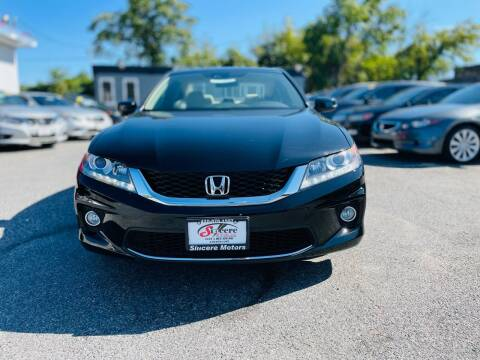 2013 Honda Accord for sale at Sincere Motors LLC in Baltimore MD