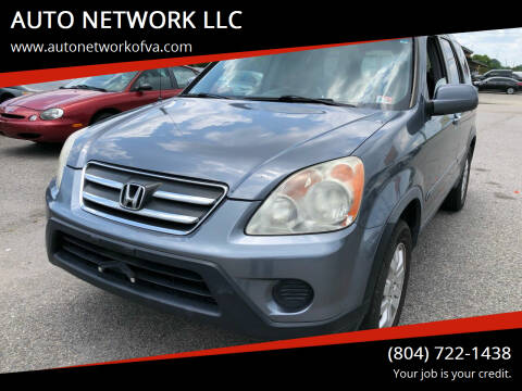 2006 Honda CR-V for sale at AUTO NETWORK LLC in Petersburg VA