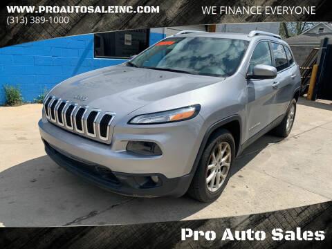 2014 Jeep Cherokee for sale at Pro Auto Sales in Lincoln Park MI
