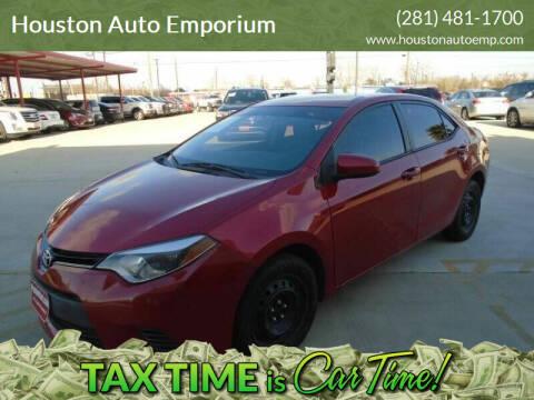 2015 Toyota Corolla for sale at Houston Auto Emporium in Houston TX