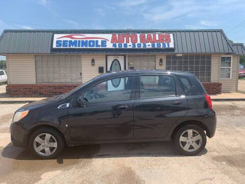 2009 Chevrolet Aveo for sale at Seminole Auto Sales in Seminole OK