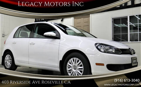 2013 Volkswagen Golf for sale at Legacy Motors Inc in Roseville CA