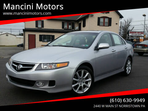 2008 Acura TSX for sale at Mancini Motors in Norristown PA