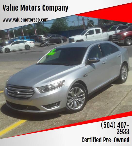 2014 Ford Taurus for sale at Value Motors Company in Marrero LA