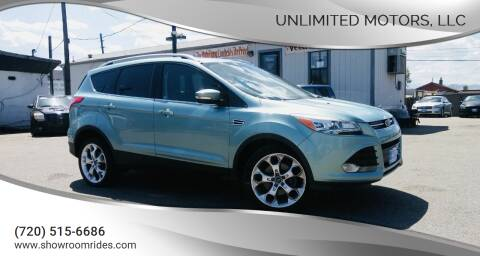 2013 Ford Escape for sale at Unlimited Motors, LLC in Denver CO