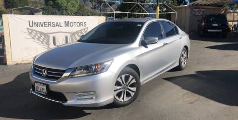 2013 Honda Accord for sale at Universal Motors in Glendora CA