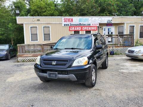 2003 Honda Pilot for sale at Seven and Below Auto Sales, LLC in Rockville MD